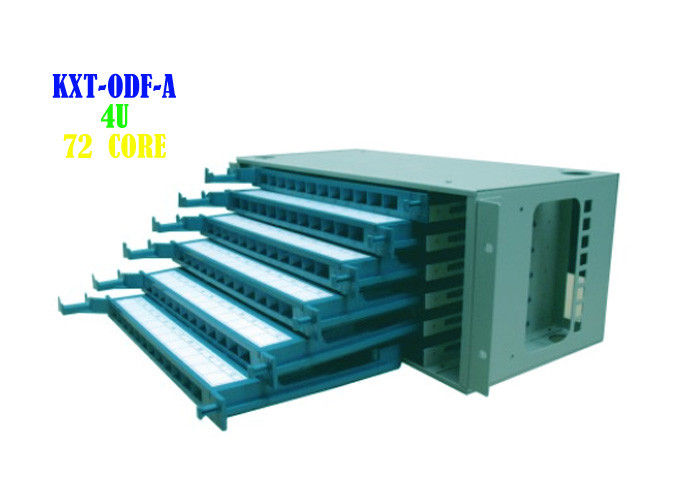 Rj45 Ethernet Cable Patch Panel Rack Wall Mount 4U 72 Core 9.8kg Weight