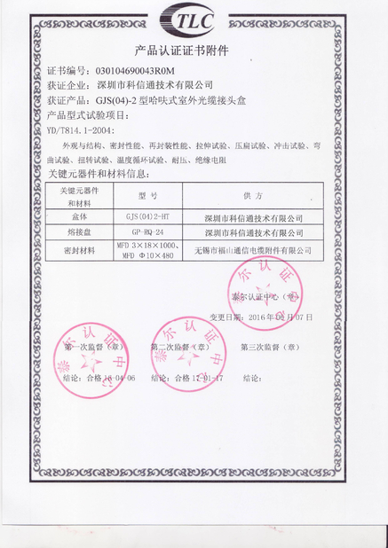 China SHENZHEN KXIND COMMUNICATIONS CO.,LTD certificaciones